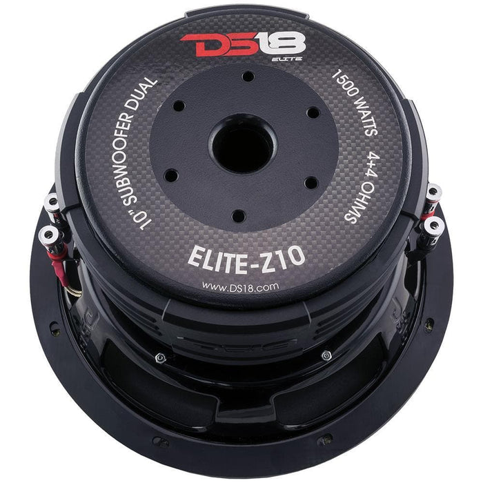 "ELITE 10"" SUBWOOFER 4 OHM 1500 WATTS WITH CARBON FIBER DUST CAP DVC"