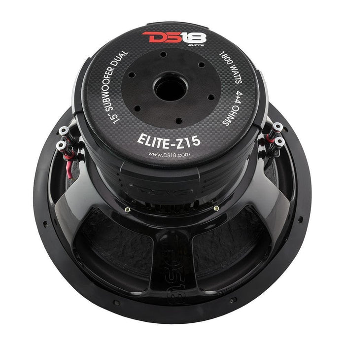 "ELITE 15""  SUBWOOFER 4 OHM 1800 WATTS WITH CARBON FIBER DUST CAP DVC"