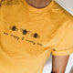 "T-shirt ""Bee Happy & Cruelty-Free"""