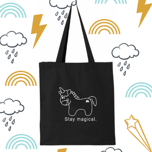 Reusable bag. Unicorn tote bag.