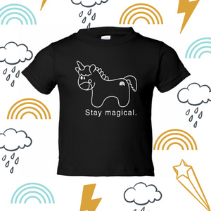 Unicorn all gender kids tee
