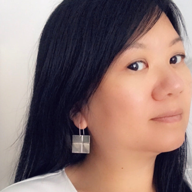 Quilted Square Earrings