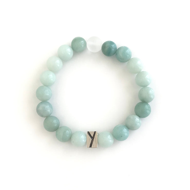 Amazonite and Quartz Bracelet