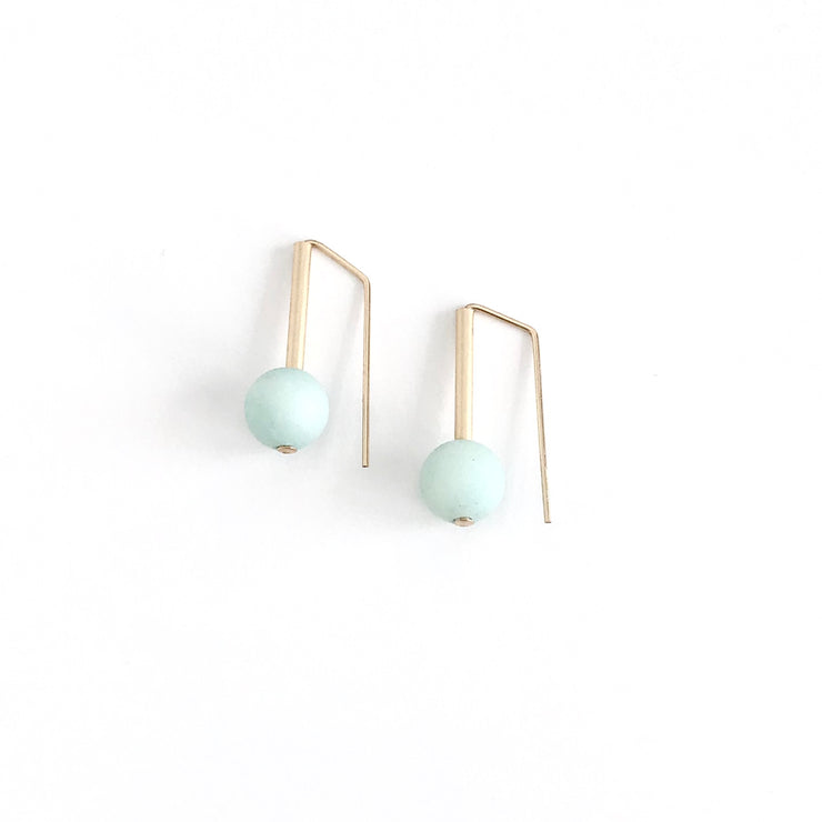 Matte Amazonite Everyday Earrings