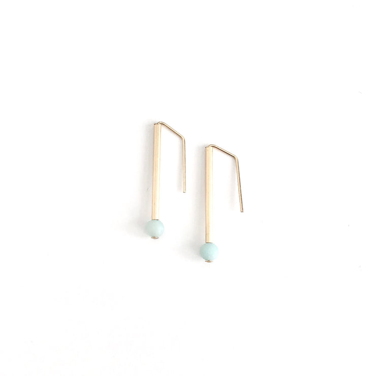 Amazonite Everyday Earrings Petite