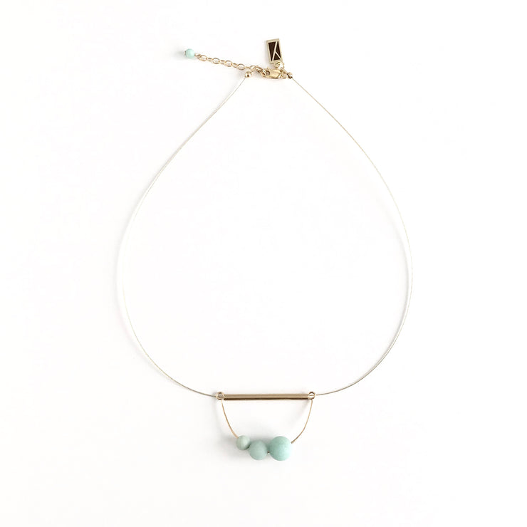 Matte Amazonite Abacus Necklace