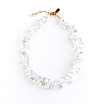 Bedazzled Quartz Teardrop Necklace