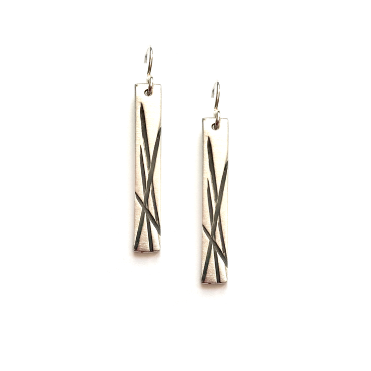 Grass Earrings-Sterling Silver
