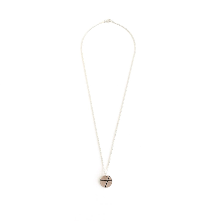 XO Kiss & Hug Necklace-Sterling Silver