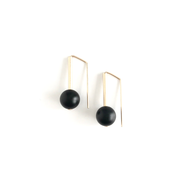 Matte Onyx Everyday Earrings