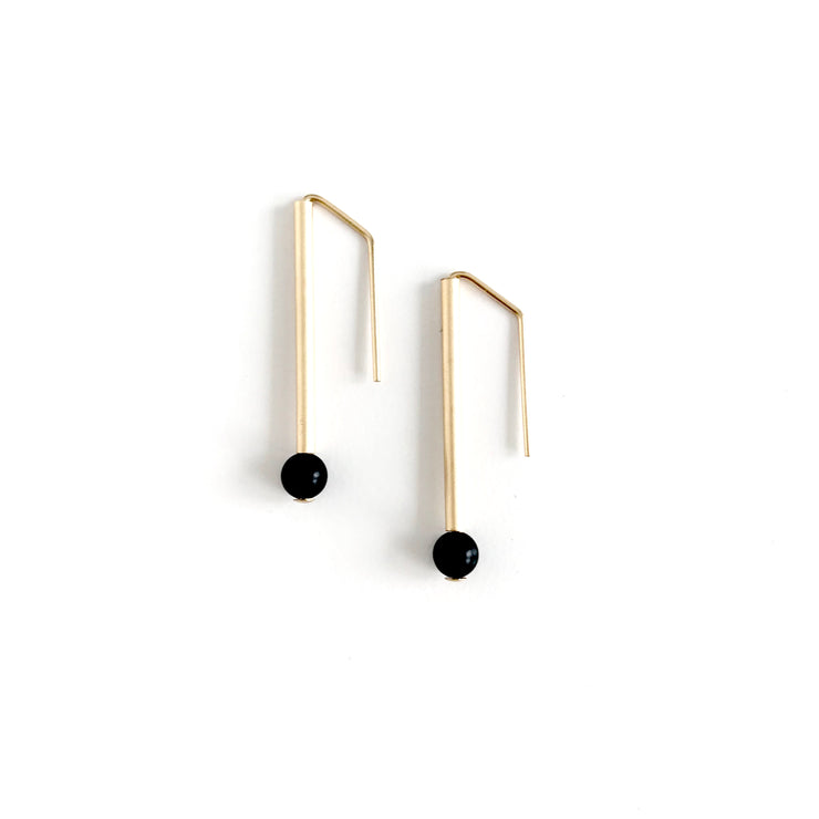 Onyx Everyday Earrings-Petite