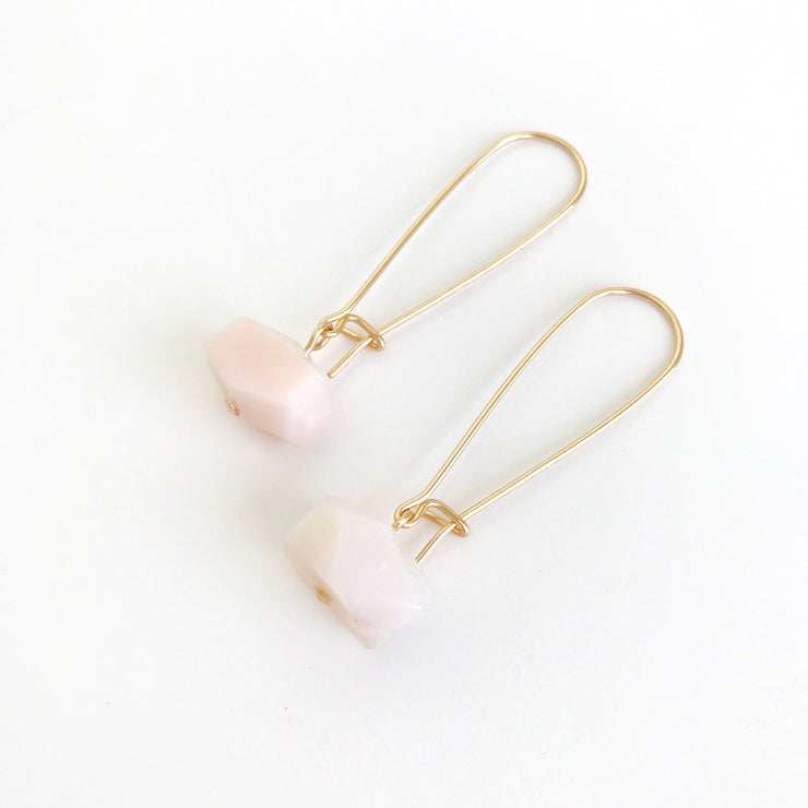 Opal Nugget Earrings-Long