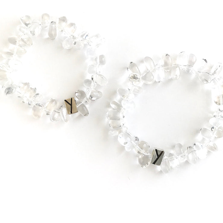 Bedazzled Quartz Crystal Bracelet