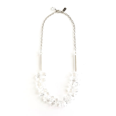 Quartz Crystal Large Teardrop Necklace