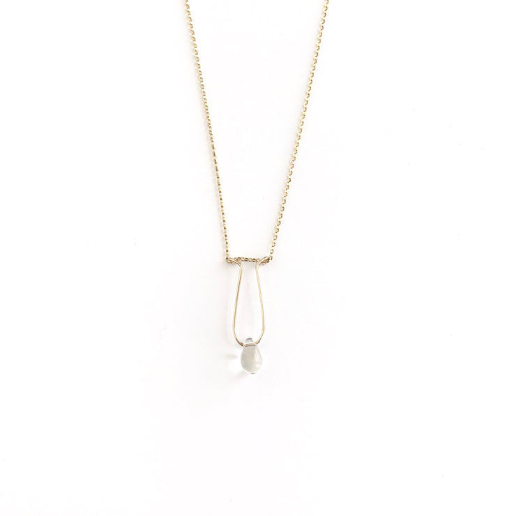 *SPECIAL CHARITABLE ITEM* Quartz Crystal Teardrop Necklace