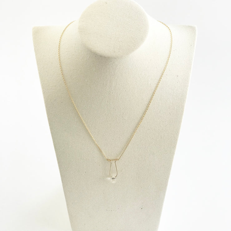 Quartz Crystal Teardrop Necklace