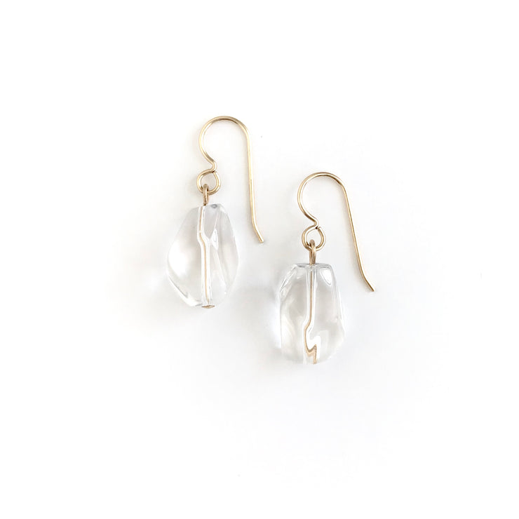 Quartz Single Nugget Earring