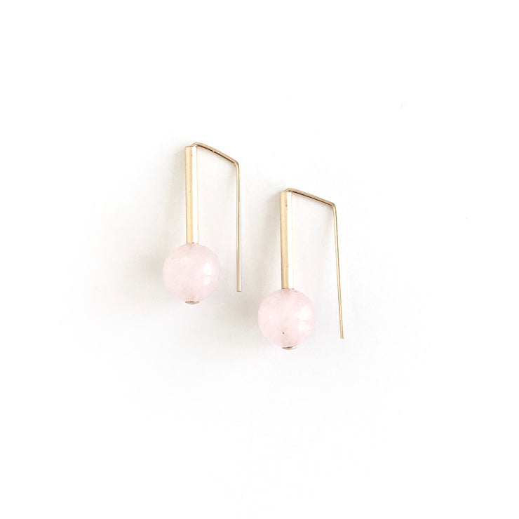 Rose Quartz Everyday Earrings