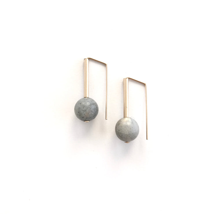 Matte Labradorite Everyday Earring