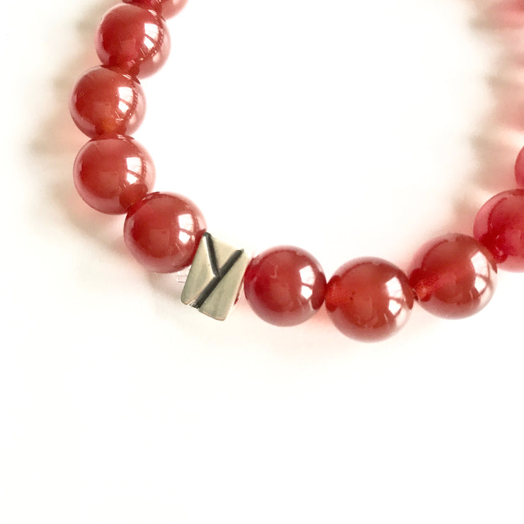 *NEW* Carnelian and Quartz Bracelet