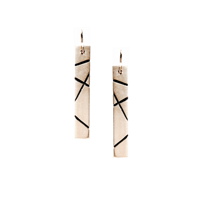 Travels Earrings-Matte Brass