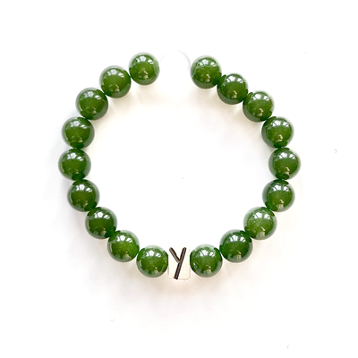 Jade and Quartz Bracelet