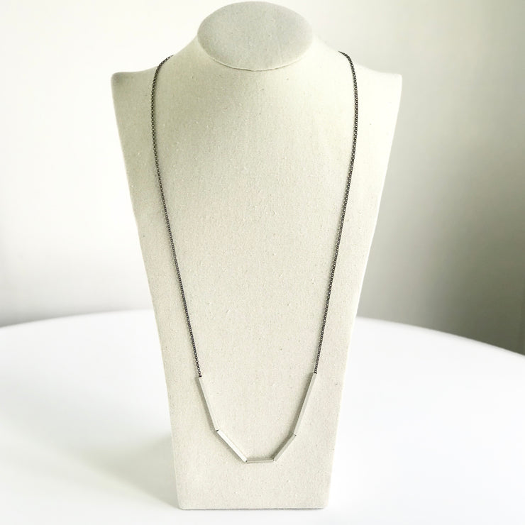 *NEW* Long Abstract Necklace with Square Tubes
