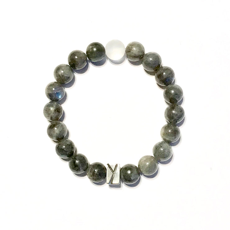 Labradorite and Quartz Bracelet