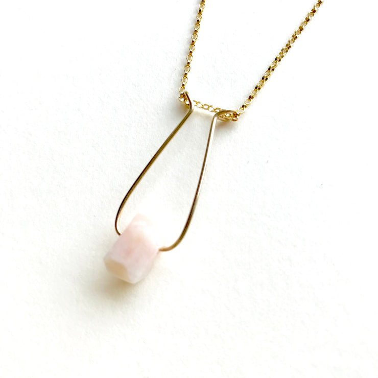 Opal Single Nugget Hope Necklace