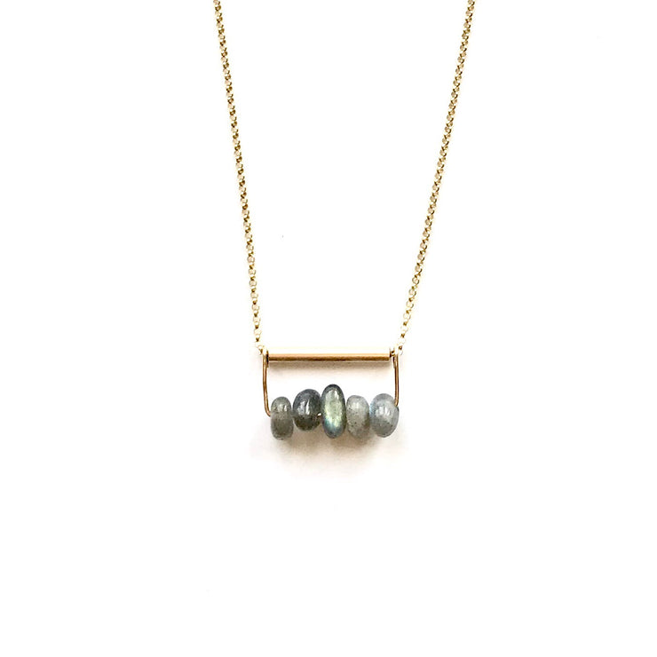 Labradorite and Bar Necklace
