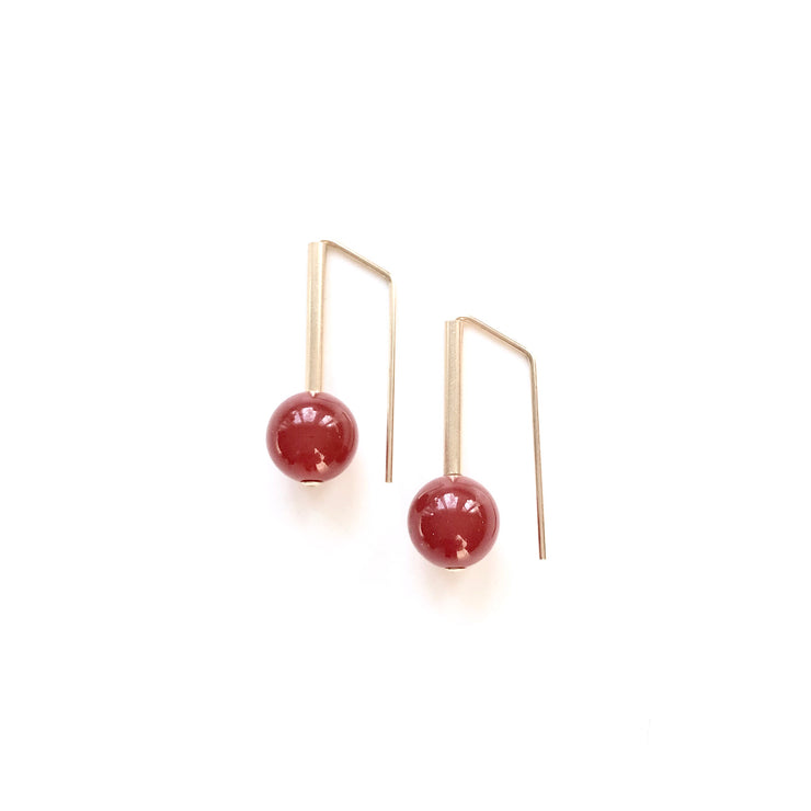 Carnelian Everyday Earrings