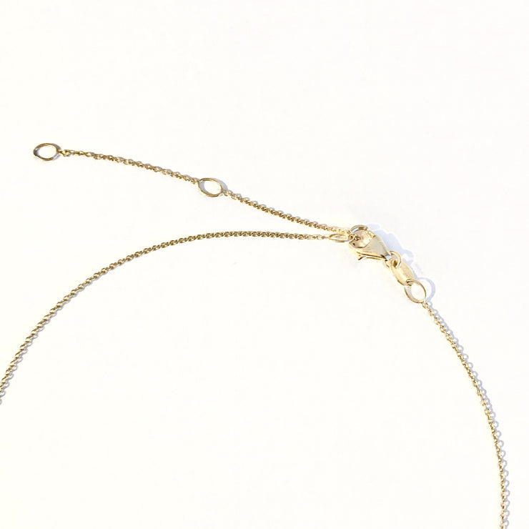 XO Kiss & Hug Necklace-Solid 14k Gold