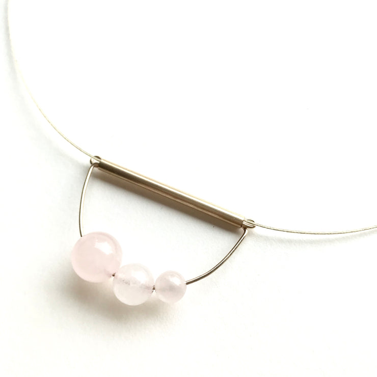Rose Quartz Abacus Necklace