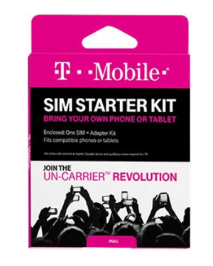 Prepaid Sim card (€10 credit) - T-Mobile - Starter Kit