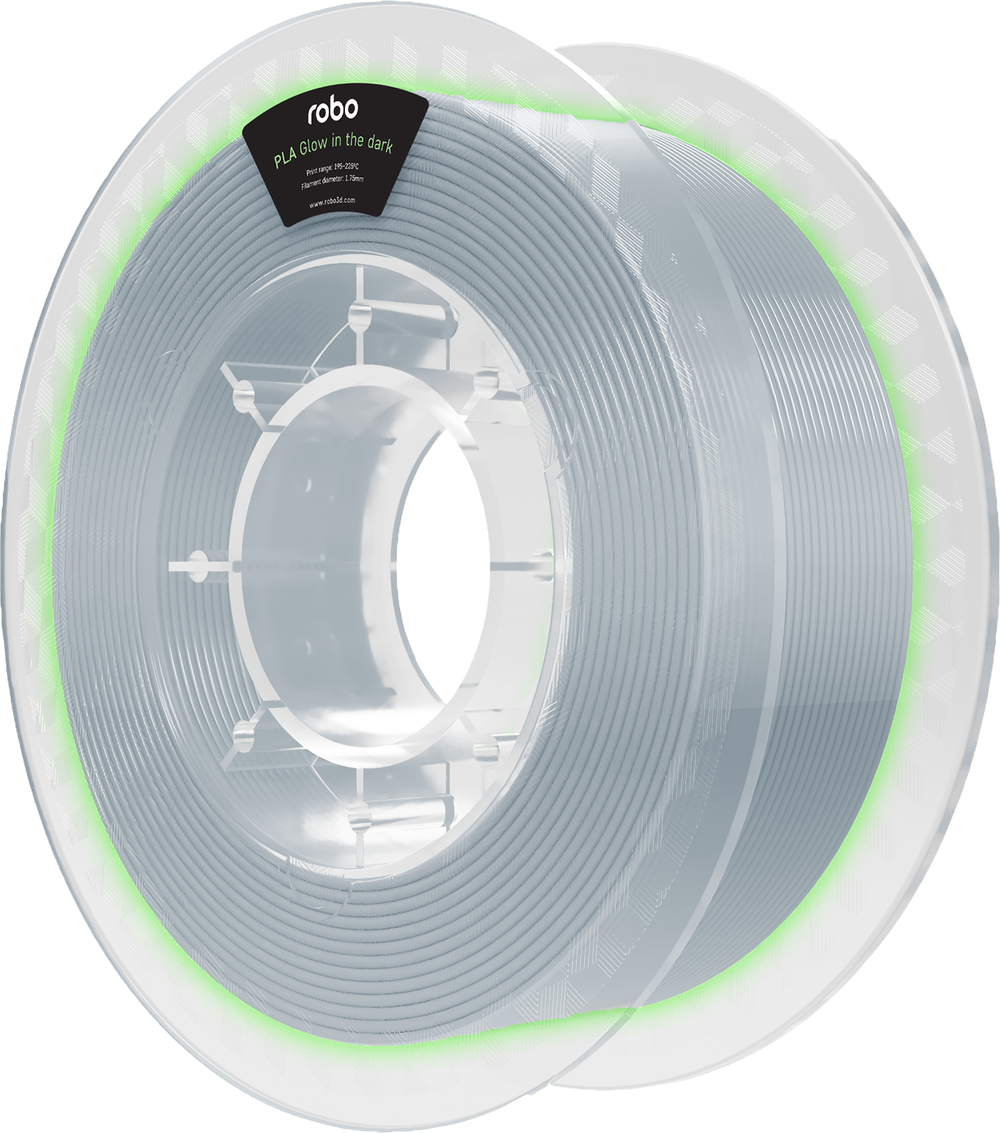 Robo PLA Glow In The Dark 500g Filament - Clear 1.75mm - PLA Glow in the Dark