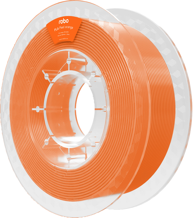 Robo PLA Peel Orange 500g Filament - Orange 1.75mm - PLA Peel Orange