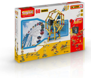 Engino - Pro Series - 60-in-1 Model Construction Set with Motor - ENG6020 | STEM Toy Store | STEMToyStore.com