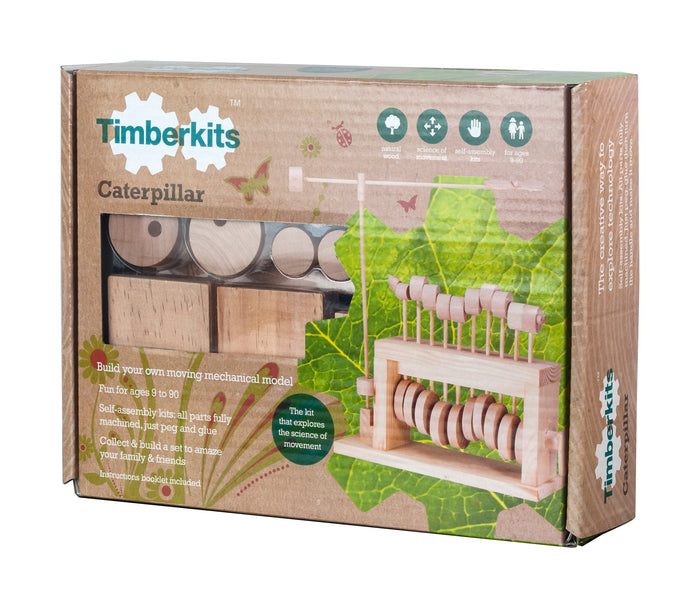 Timberkits - Caterpillar - Wooden Automata Model Kit - TIM102 | STEM Toy Store | STEMToyStore.com