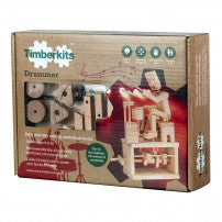 Timberkits - Drummer - Wooden Automata Model Kit - TIM106 | STEM Toy Store | STEMToyStore.com