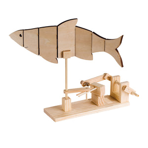 Timberkits - Fish - Wooden Automata Model Kit - TIM101 | STEM Toy Store | STEMToyStore.com