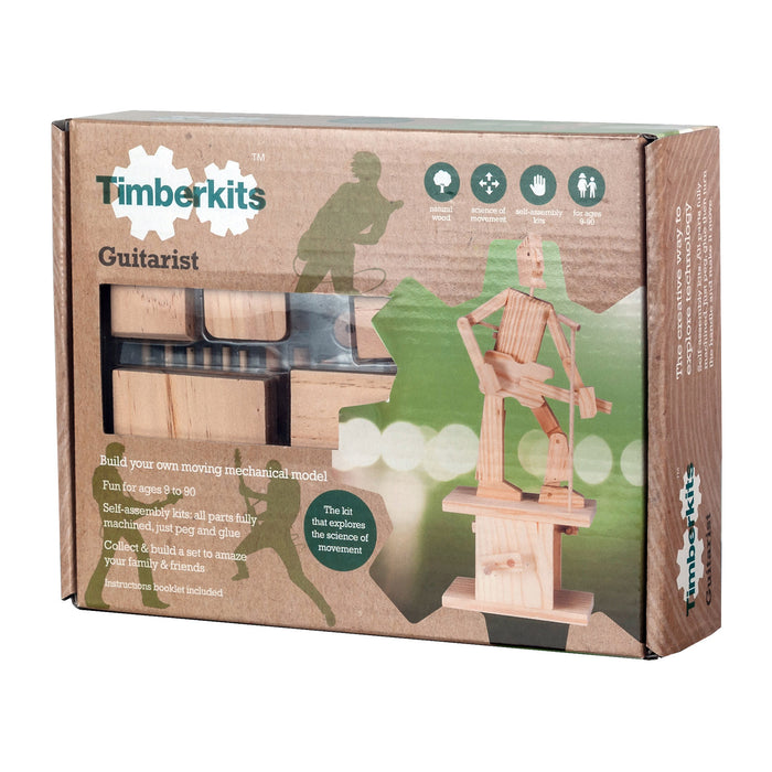 Timberkits - Guitarist - Wooden Automata Model Kit - TIM105 | STEM Toy Store | STEMToyStore.com