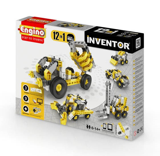 Engino - Inventor Series - 12-in-1 Models Industrial Kit - ENG1234 | STEM Toy Store | STEMToyStore.com