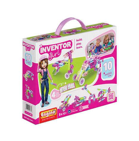 Engino - Inventor Girl - 10-in-1 Models Construction Kit - ENGIG10 | STEM Toy Store | STEMToyStore.com