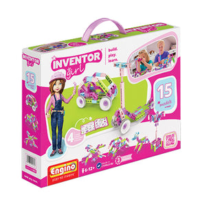 Engino - Inventor Girl - 15-in-1 Models Construction Kit - ENGIG15 | STEM Toy Store | STEMToyStore.com