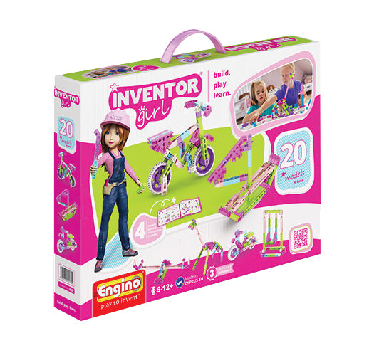 Engino - Inventor Girl - 20-in-1 Models Construction Kit - ENGIG20 | STEM Toy Store | STEMToyStore.com
