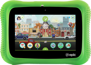 LeapFrog Epic 2.0 - Academy Edition (Green) - 7 Inch Tablet Computer - L4505 | STEM Toy Store | STEMToyStore.com