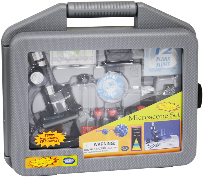 Edu-Toys - Microscope Set in Carrying Case - EDU41011 | STEM Toy Store | STEMToyStore.com