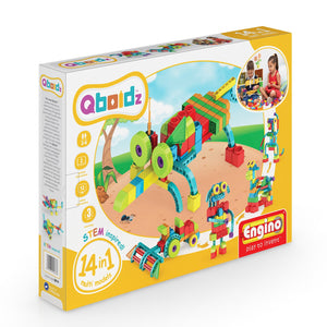 Engino - Qboidz 14-in-1 Set - Multi Models Building Kit - ENGQB14 | STEM Toy Store | STEMToyStore.com