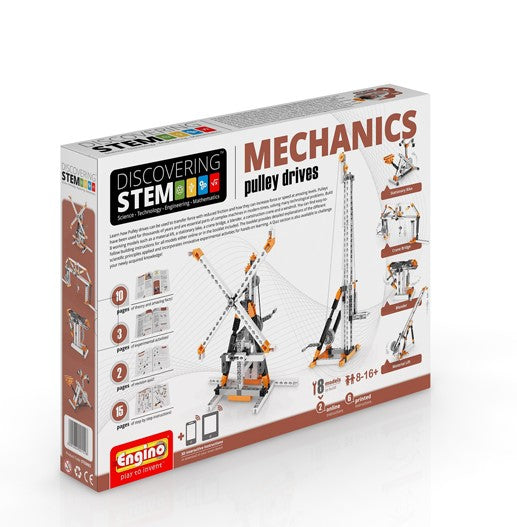 Engino - Discovering STEM - STEM MECHANICS - Pulley drives - ENGSTEM03 | STEM Toy Store | STEMToyStore.com