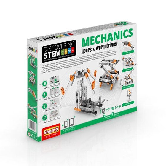 Engino - Discovering STEM - STEM Mechanics - Gears & Worm Drives - ENGSTEM05 | STEM Toy Store | STEMToyStore.com